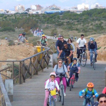 Med cykel längs med Palma-bukten