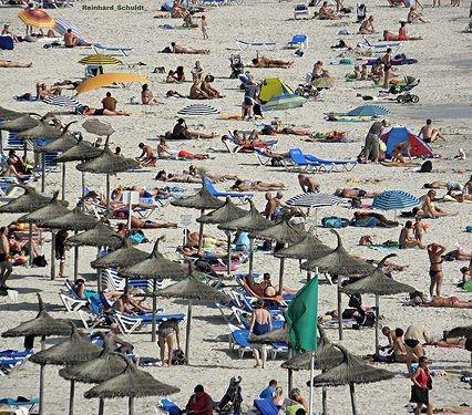 Trångt på Mallorca i augusti