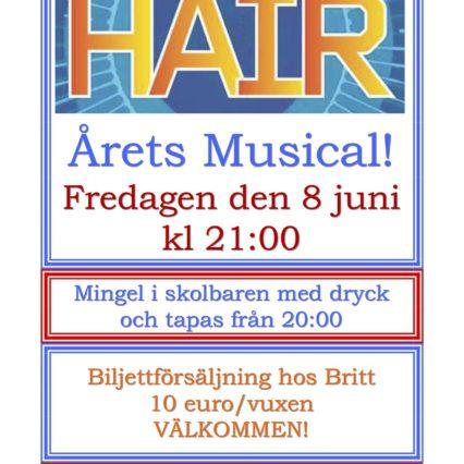 Musikal på Svenska skolan på fredag