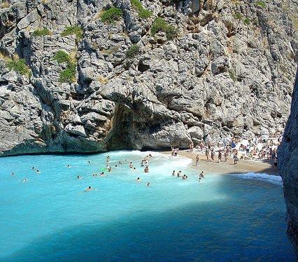Mycket folk på Mallorca i augusti