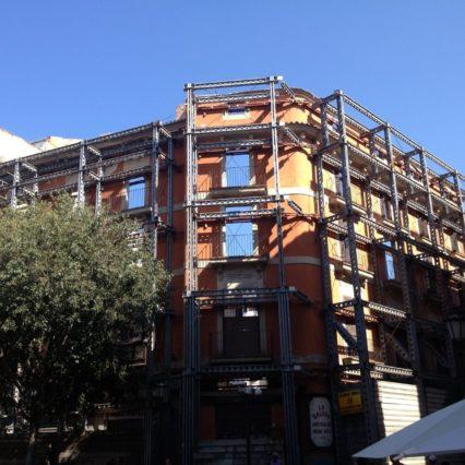 Cappuccino bygger på Plaça de Cort