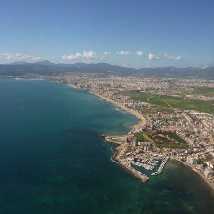 Flygtrafiken på Mallorca – september