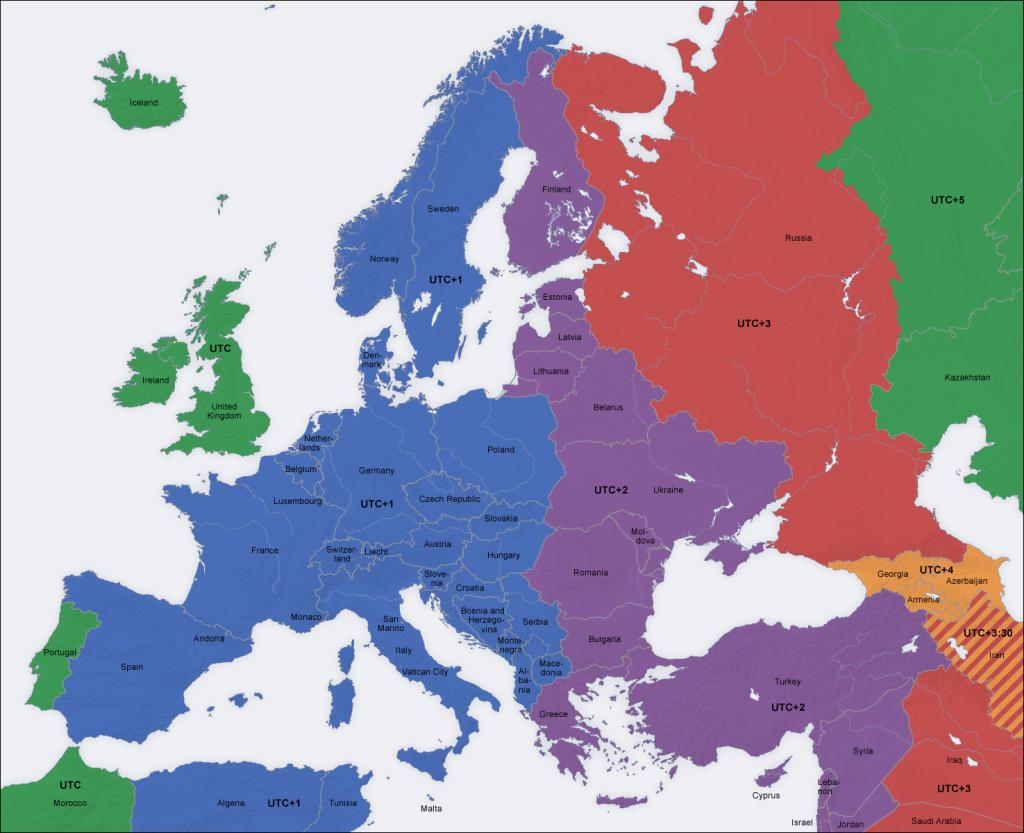 tidszoner europa karta Krönika: Ur led är tiden… | Mallorcanytt: Människor, möten och  tidszoner europa karta