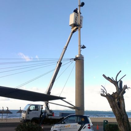 Gratis Wi-Fi längs med Playa de Palma