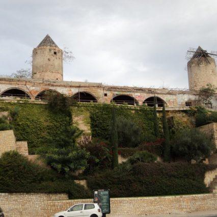 Storstädning i ruinerna vid Es Jonquet