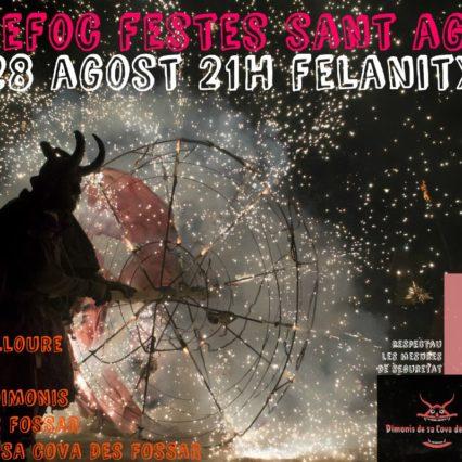 Festes de Sant Agustí i Felanitx i kväll
