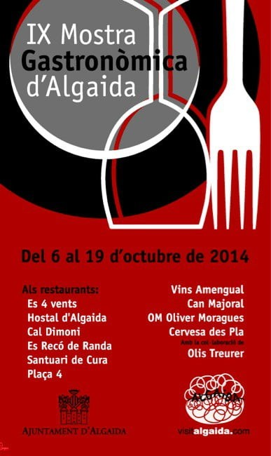 Restaurangerna i Algaida serverar menyer till bra priser (6-19 oktober)