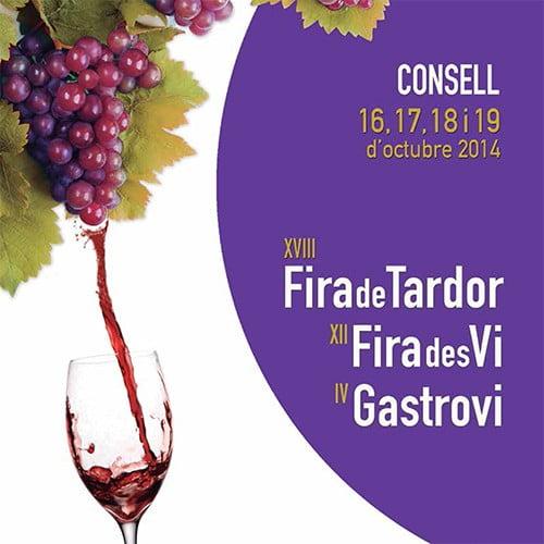För närvarande pågår Fira de Tardor i Consell (16-19 oktober) - vin och tapas på söndag!