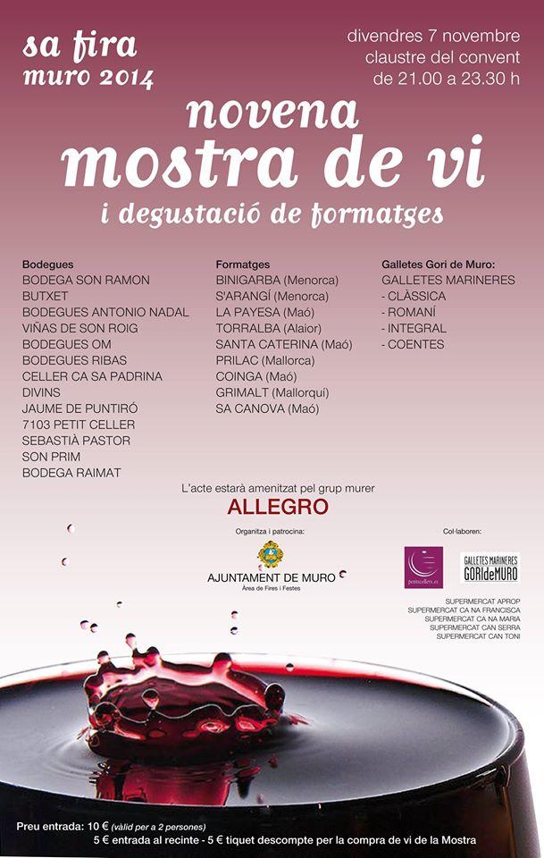 Ost- och vinprovning i kväll (7 november) i Muro - från kl. 21.00