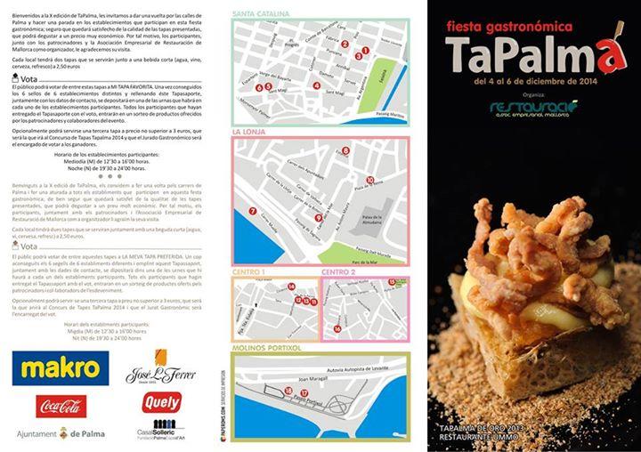Nu (4-6 december)är det dags för populära TaPalma; på torsdag, fredag och lördag i Palma