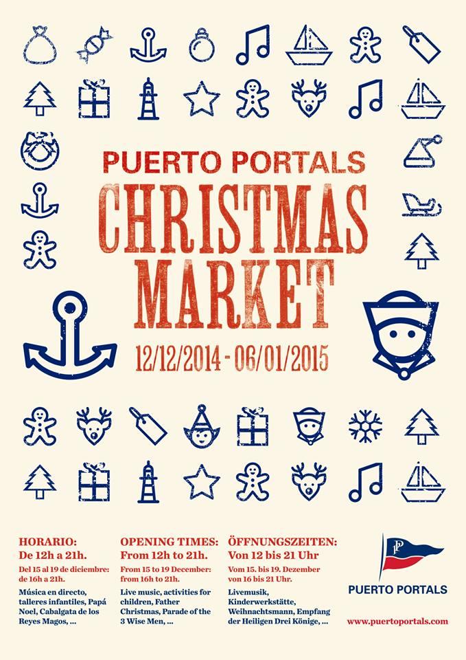 I dag inleds den årliga julmarknaden i Puerto Portals (12 december - 6 januari)