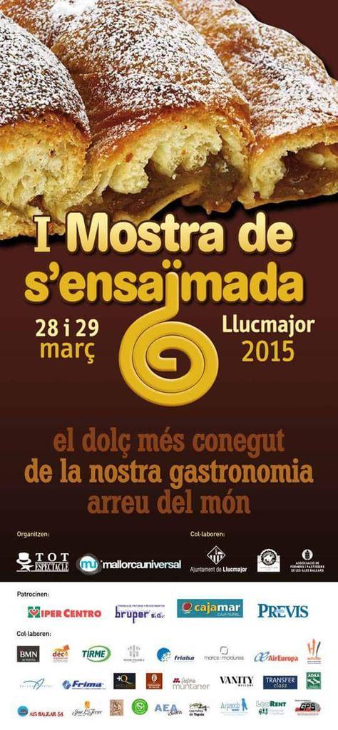 Nu i helgen (28-29 mars) äter man ensaïmadas i Llucmajor