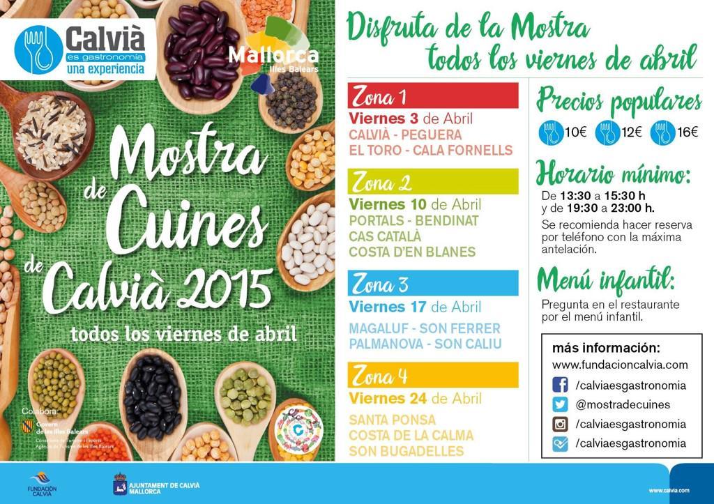 Under hela april (varje fredag) kör man Mostra de Cuines i Calvià kommun