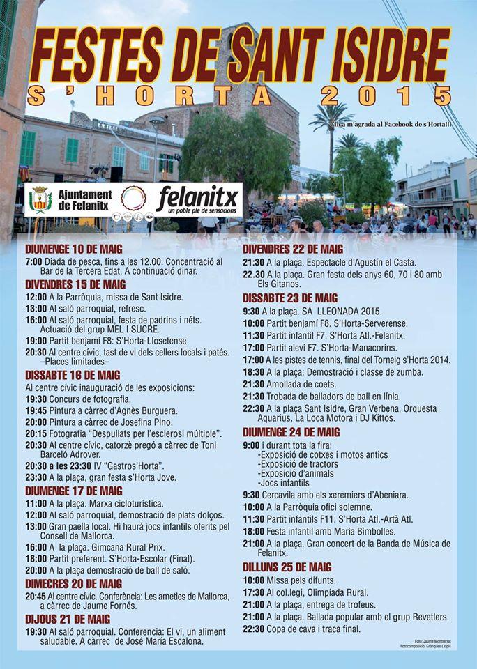 Nu på söndag (24 maj) kan det vara läge att bege sig till Felanitx och festligheterna där