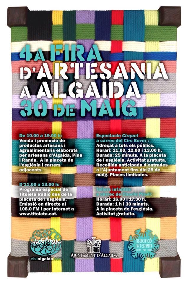 Nu på lördag (30 maj) är det dags för Fira d'Artesania i Algaida - trevligt!