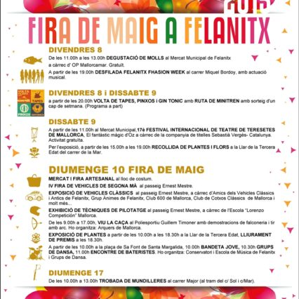 Fira de Maig i Felanitx 8-10 maj