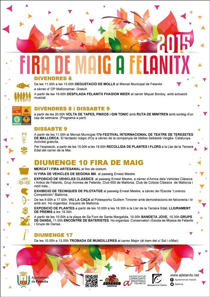 Nu i dagarna är det dags för Fia de Maig i Felanitx - tapas på fredag och lördag