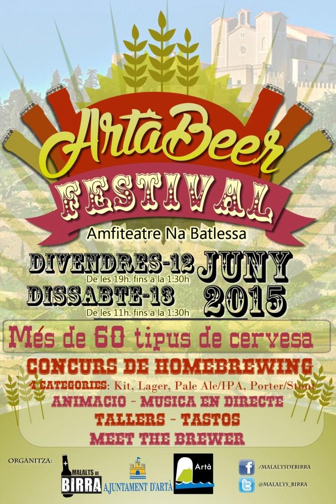 """I kväll och i morgon (12-13 juni) är det dags för """"Artà Beer Festival"""" i den vackra lilla staden"""