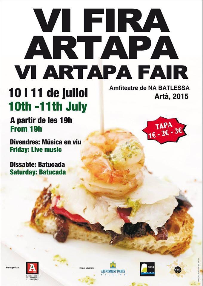 Nu i kväll och på lördag kväll (10-11 juli) är det dags för VI Artapa i Artà