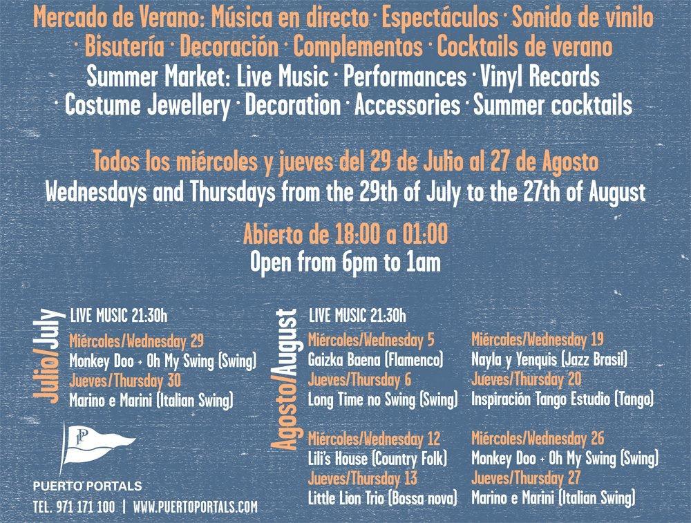 Nu drar The Sunset Market igång i Puerto Portals. Varje onsdag och torsdag t.o.m. 27 augusti