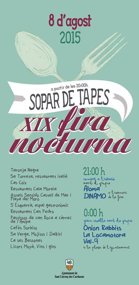 På lördag kväll är det dags för Fira Nocturna i Sant Llorenç des Cardassar