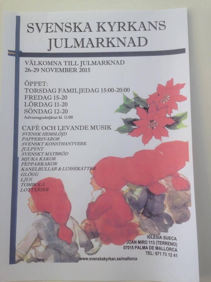 Julbasar i Svenska kyrkan - torsdag till söndag