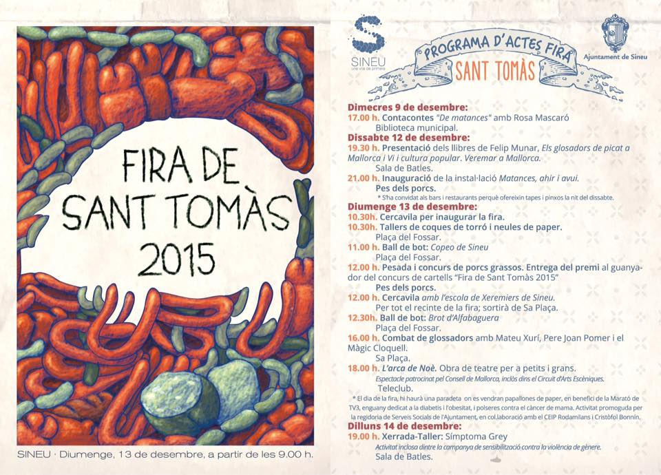Fira de Sant Tomàs i Sineu (13 december) - nu på söndag