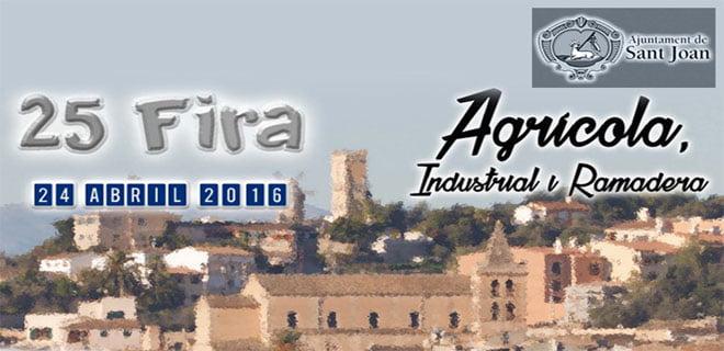 Dags för Fira agrícola, industrial i ramadera i Sant Joan - 24 april