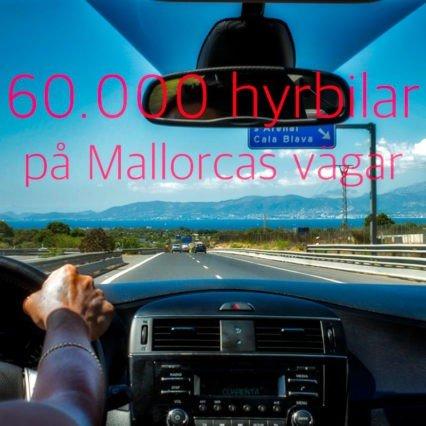 60.000 hyrbilar på Mallorcas vägar