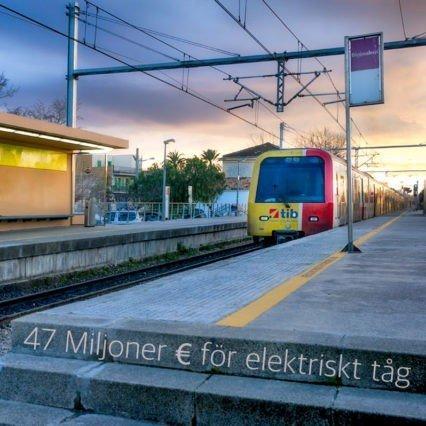 47 Miljoner € för elektriskt tåg