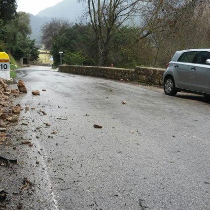 Ovädret ger stora trafikstörningar på Mallorca