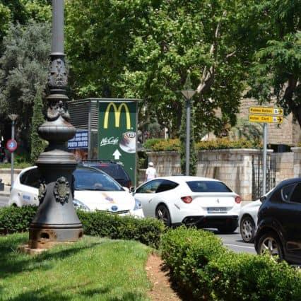 Håll hastigheten och respektera trafikreglerna i Palma
